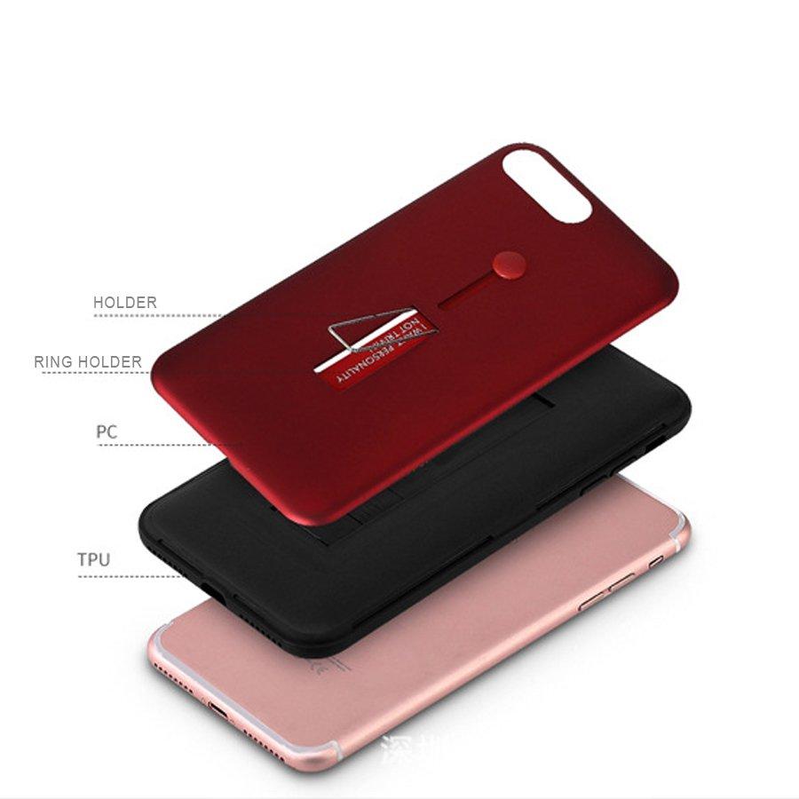 LANCASE For iPhone 5S Case Hybrid Smart Flexible Strap Grip Kickstand Ultra thin TPU PC Hard 4