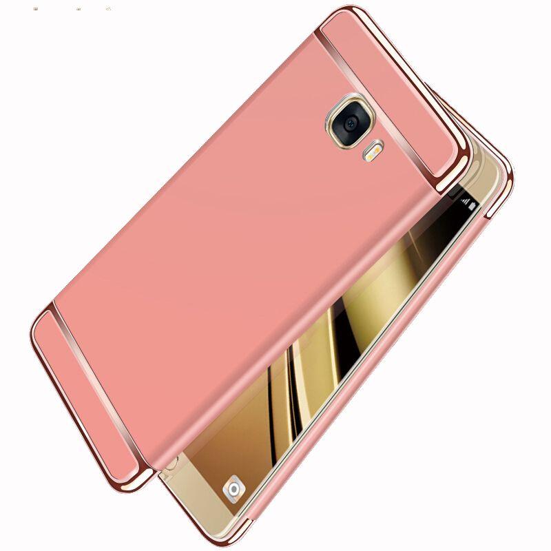 Luxury 3 in 1 Full Body Plating PC Hard Case for Samsung Galaxy C5 C7 C9 4 compressor 1