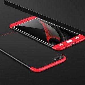 Vivo V5 Plus Full Cover Armor Baby Skin Hard Case RED BLACK