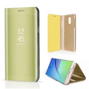kainuen luxury original mirror clear view cover coque case for samsung galaxy j7 plus J7 phone 1 compressor