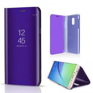 kainuen luxury original mirror clear view cover coque case for samsung galaxy j7 plus J7 phone 3 compressor
