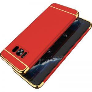 Premium Hard Case 3 in 1 List Gold Samsung S8 Merah