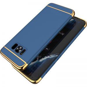 Premium Hard Case 3 in 1 List Gold Samsung S8 Navy