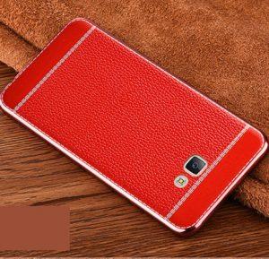 Samsun C9 PRO Luxury Soft Leather Tekstur Litchi Soft Case Red