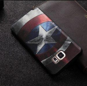 Softcase 3D Marvel Super Hero Samsung Note 5 Capt. America