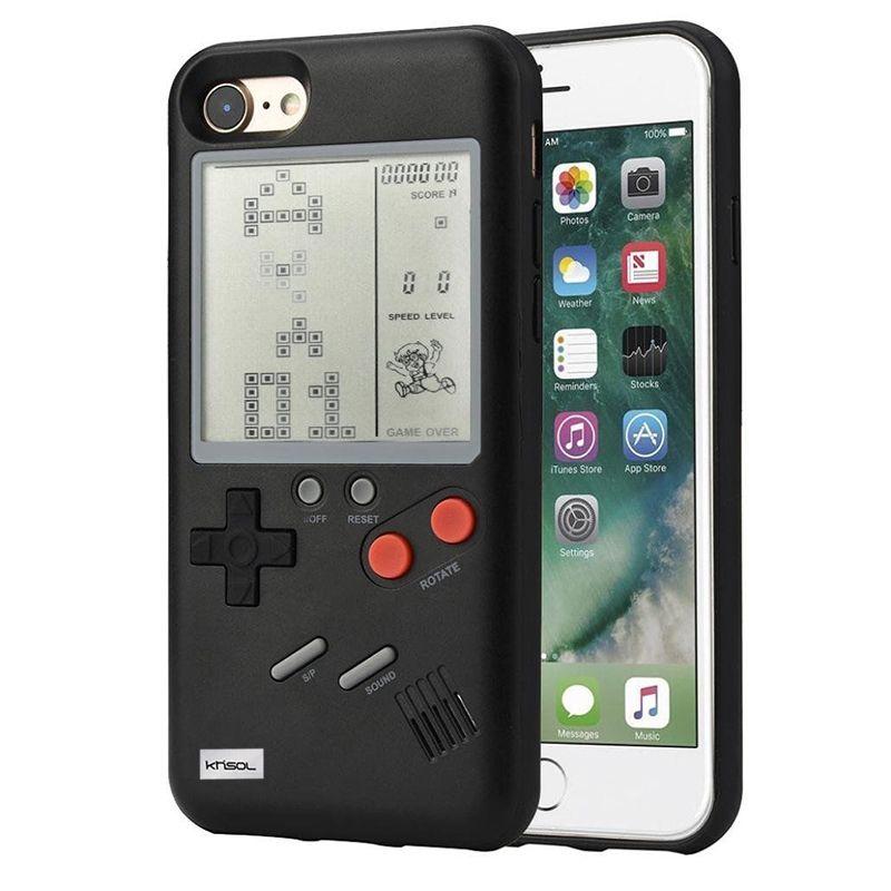 Khisol Retro GB Gameboy Tetris Phone Cases for iPhone 6 6S 7 8 Plus Soft PC 0 compressor