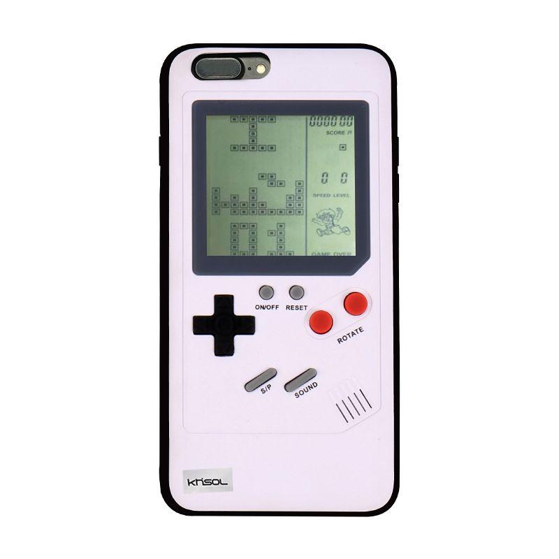 Khisol Retro GB Gameboy Tetris Phone Cases for iPhone 6 6S 7 8 Plus Soft PC 2 compressor