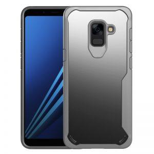For Samsung Galaxy A6 A8 2018 Plus Tough Style Case Air Cushion Bumper Clear Hard PC Gray