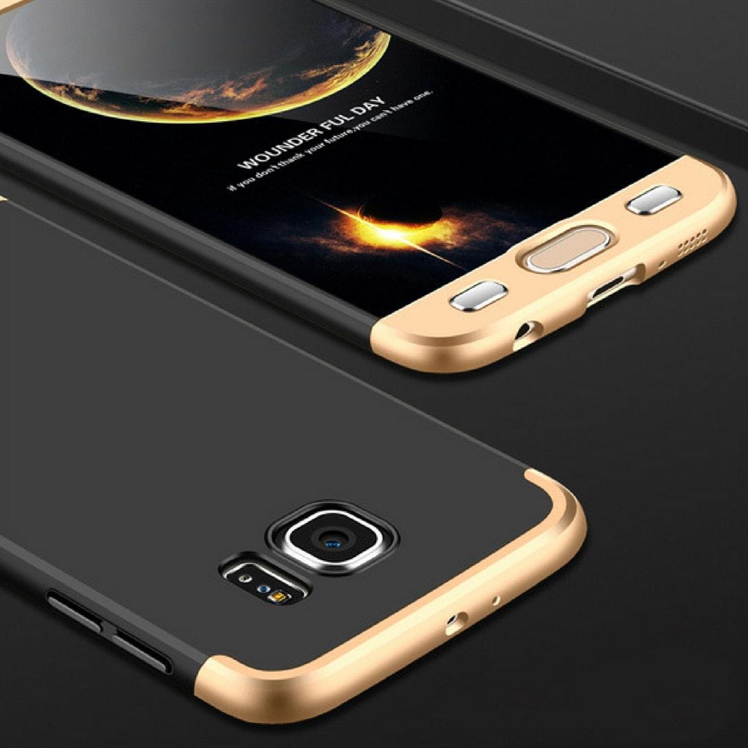 S7 Edge Black Gold