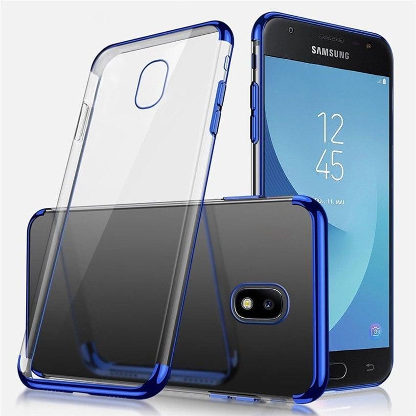 Koosuk Back Cover For Samsung J3 J5 J7 Pro 2017 Plating Soft Case J730 J530 J330 Blue min