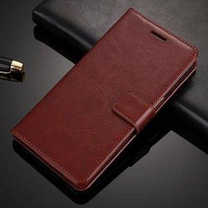 asus zenfone max pro m1 leather flip cover wallet coklat compressor