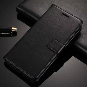 asus zenfone max pro m1 leather flip cover wallet hitam compressor