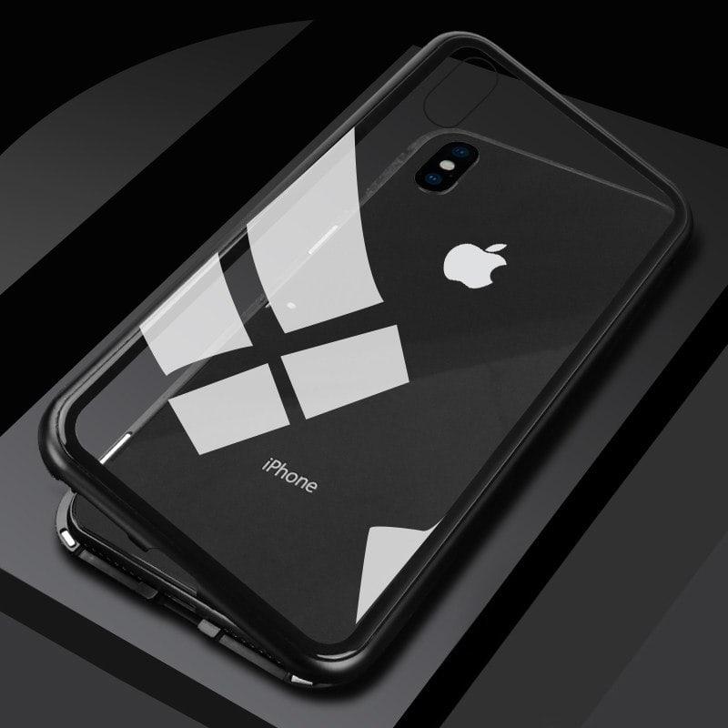 httpssumberrezeki.idcasing premium iphone xs max magnetic aluminium tempered glass case1