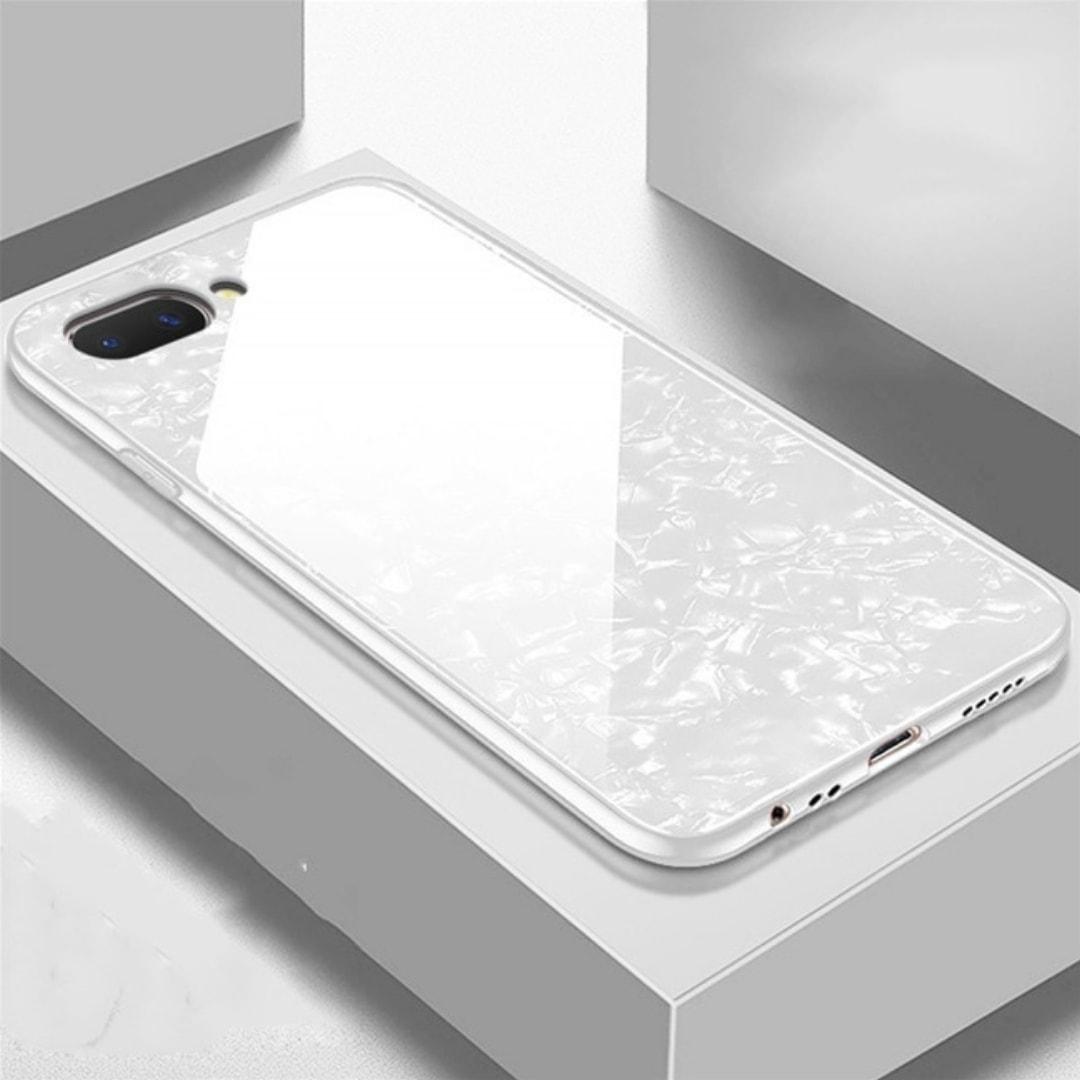 3 OPPO A3S Shinning Marmer Glass Case