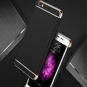Case 3 In 1 Luxury Plating Vivo Y71 Black