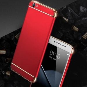 Case 3 In 1 Luxury Plating Vivo Y71 Red