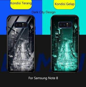 Case Crystall Glow In The Dark Samsung Note 8 Dark City