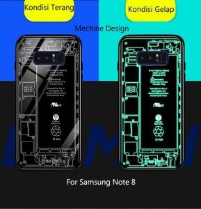 Case Crystall Glow In The Dark Samsung Note 8 Mechine