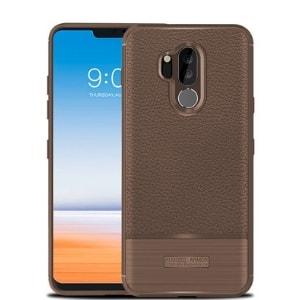 Case LG G7 Plus Softcase Rugged Coklat