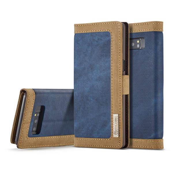 Flip Canvas Denim Cover Samsung Note 8 Bluedenim