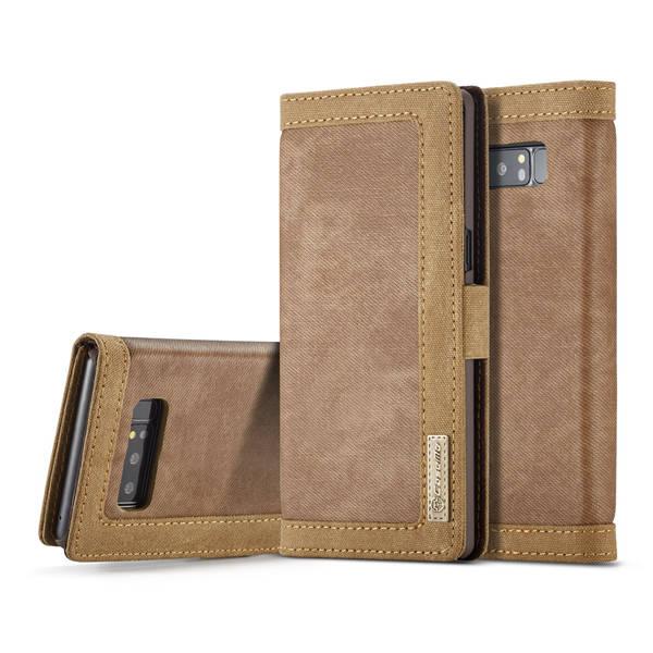 Flip Canvas Denim Cover Samsung Note 8 Brown