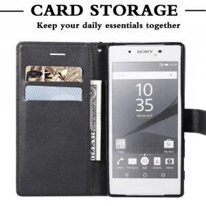 For Sony Xperia Z5 Case Leather Wallet Phone Case Sony Z3 Mini Case Luxury Flip Leather 2 min