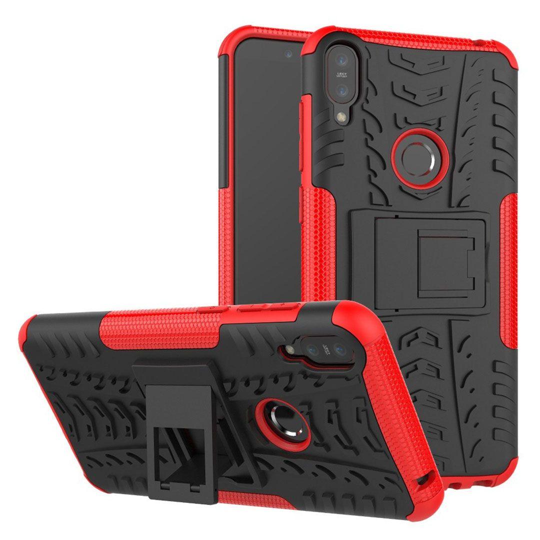 asus zenfone max pro m1 rugged armor cover kick stand merah compressor