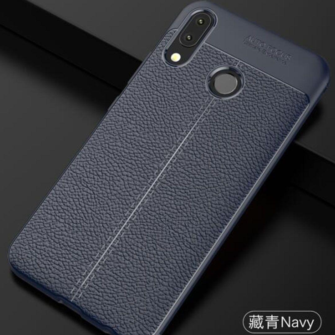 asus zenfone max pro m1 slim leather auto focus case biru navy compressor