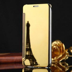 Samsung Galaxy J7 Plus Flip Mirror Cover Gold compressor