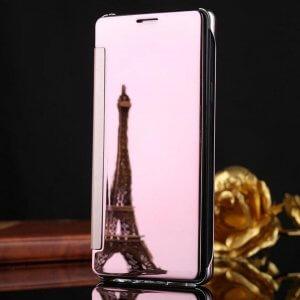 Samsung Galaxy J7 Plus Flip Mirror Cover Rose Gold compressor