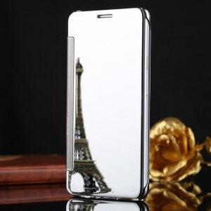 Samsung Galaxy J7 Plus Flip Mirror Cover Silver compressor