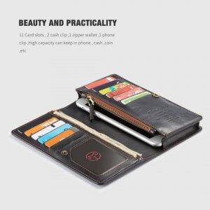 Samsung Galaxy J7 Plus Wallet Case Universal Phone Bag Leather Case compressor