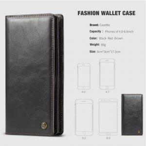 Samsung Galaxy J7 Plus Wallet Case Universal Phone Bag Leather Case3 compressor