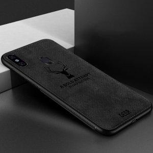 Deer Cloth Case Original Xiaomi Redmi Note 5 Note 5 Pro Black