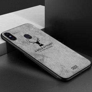 Deer Cloth Case Original Xiaomi Redmi Note 5 Note 5 Pro Grey