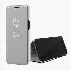 Xiaomi Mi 8 Lite Clear View Standing Cover Case Silver