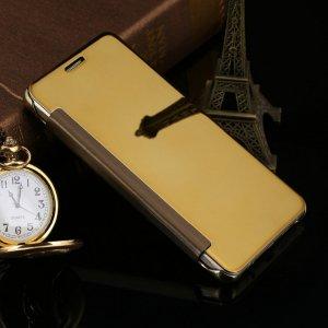 Flip Mirror Case Samsung A3 2016 Gold min