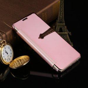 Flip Mirror Case Samsung A3 2016 Rosegold min