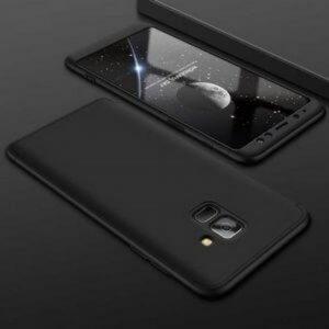 Samsung A8 A8 Plus Full Cover Armor Hard Case 360 Black min