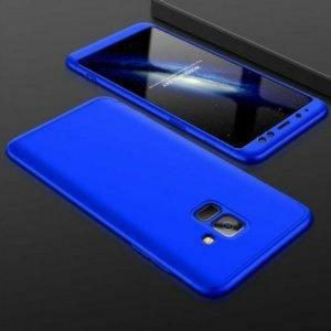 Samsung A8 A8 Plus Full Cover Armor Hard Case 360 Blue min
