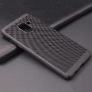Ultra Slim Phone Hard Case Cool Back Samsung A8 A8 Plus Black