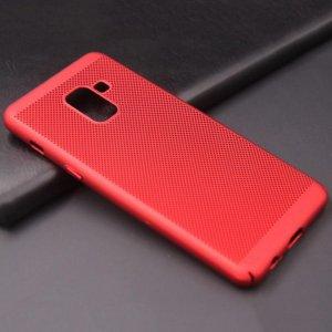 Ultra Slim Phone Hard Case Cool Back Samsung A8 A8 Plus Red