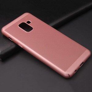 Ultra Slim Phone Hard Case Cool Back Samsung A8 A8 Plus Rose Gold