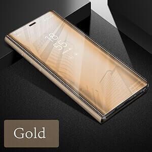 Xiaomi Redmi 4A Clear view standing cover case gold min