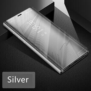 Xiaomi Redmi 4A Clear view standing cover case silver min