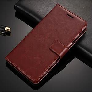Asus ZenFone 3 Max Case Casing Leather Flip Cover Wallet Brown