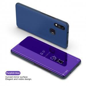 Fashion Mirror View Clear Flip Cases For VIVO NEX Mirror Flip Stand Cover For VIVO X21Purple Blue 3