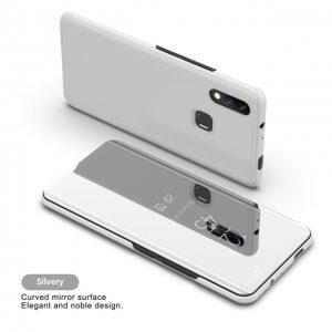 Fashion Mirror View Clear Flip Cases For VIVO NEX Mirror Flip Stand Cover For VIVO X21Silver 4