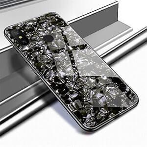 Xiaomi Redmi 7 Softcase Case Cover Glass TPU Tempered Shell Black