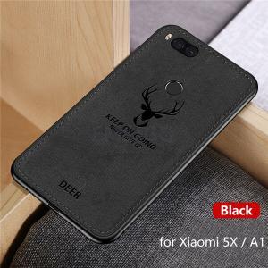 0 Hot Cloth Texture Deer 3D Soft TPU Magnetic Car Case For Xiaomi Mi 6 Mi6 Built